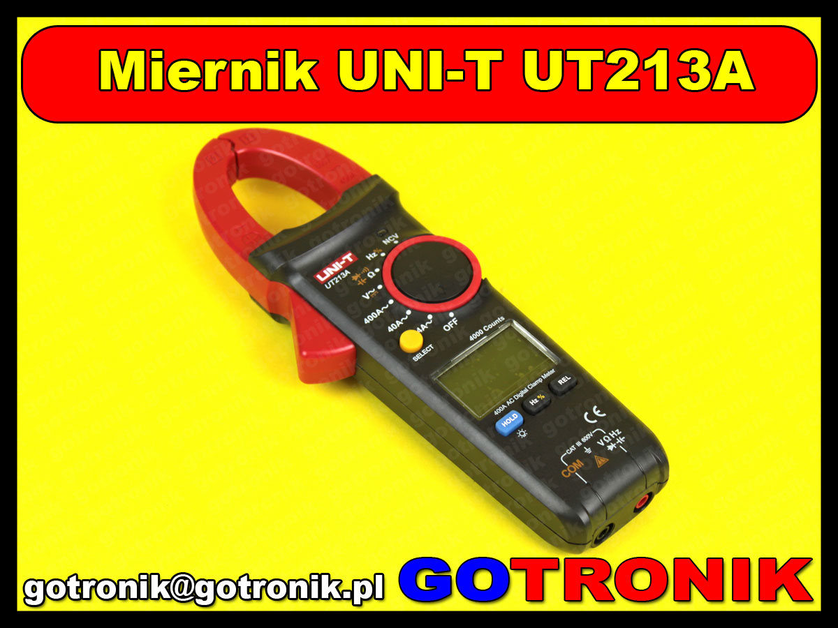 Miernik multimetr cęgowy UT213A UT-213A