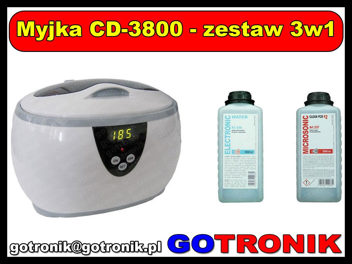 Myjka ultradźwiękowa 600ml model: CD-3800