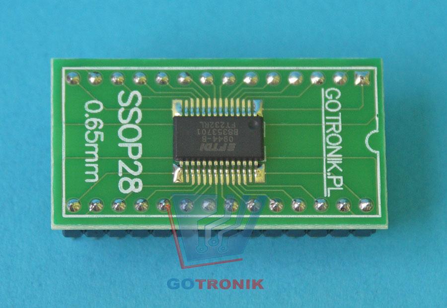 FT232RL FTDI w obudowie DIP28 15,24mm 600mils