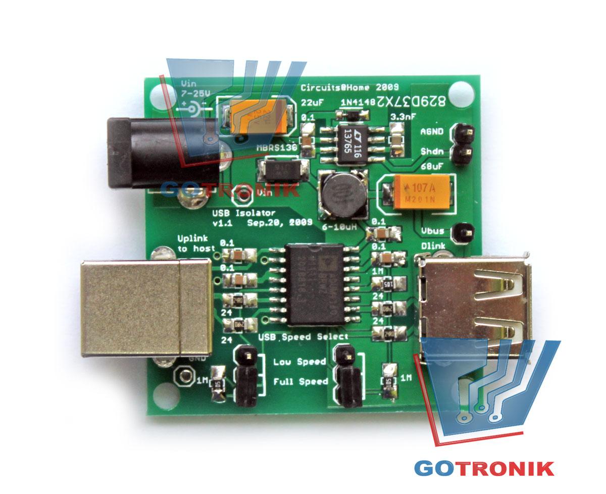 Izolator portu USB ADuM4160