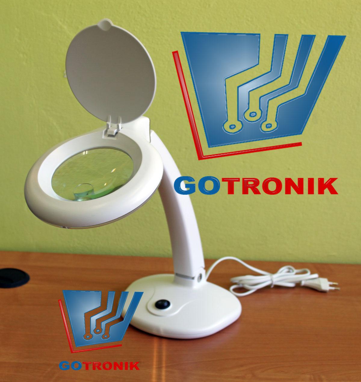 Lampa z lupą 3D + 12D biurkowa