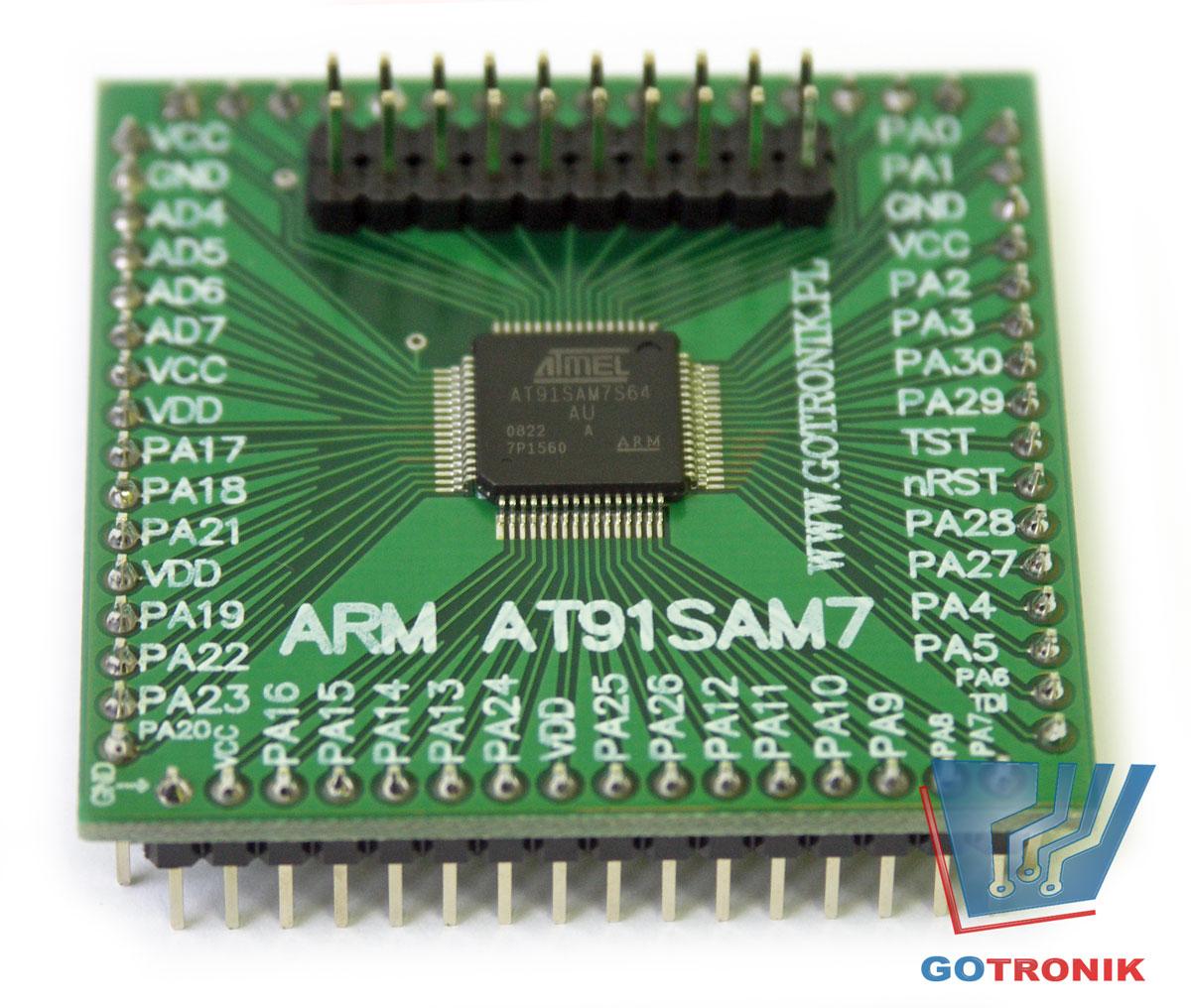 Mini moduł z procesorem ARM AT91SAM7S64