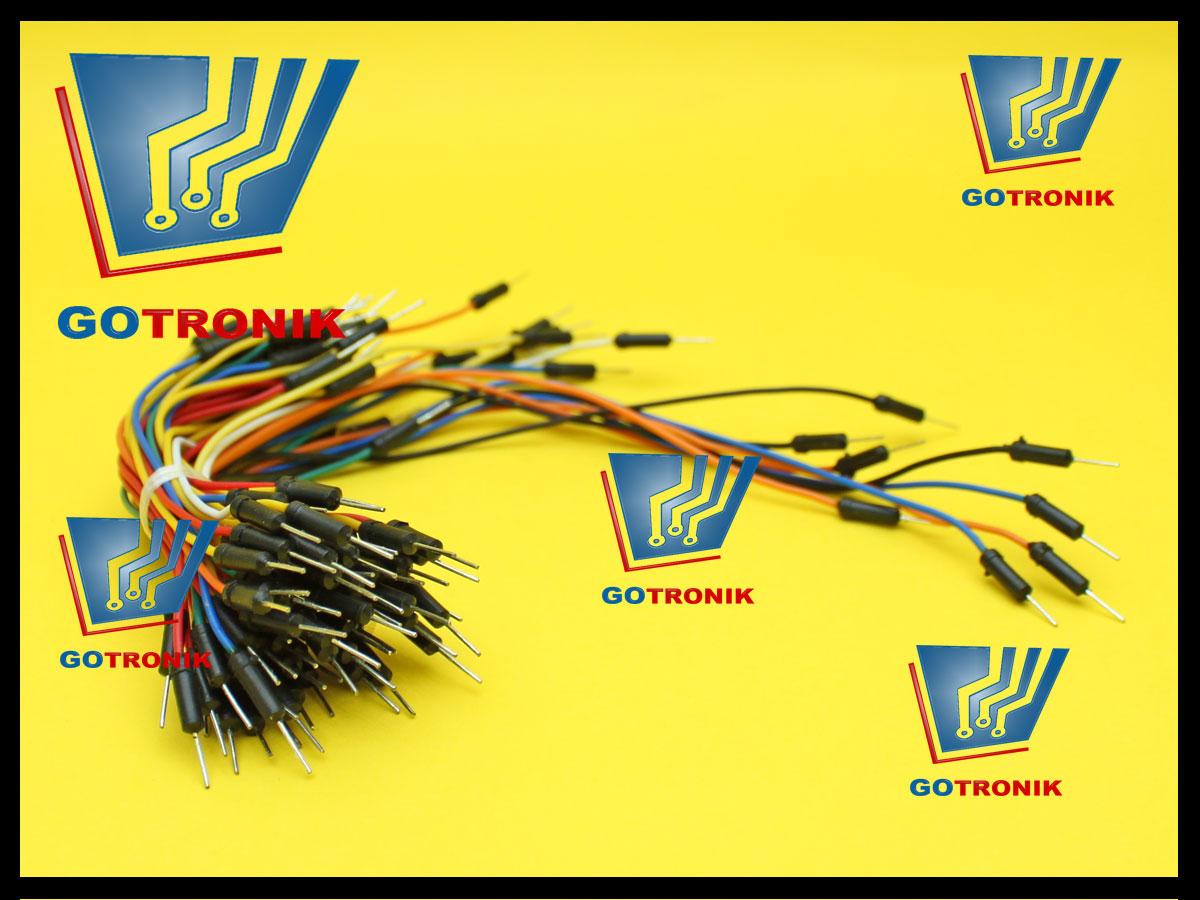 65 sztuk przewodów połączeniowych