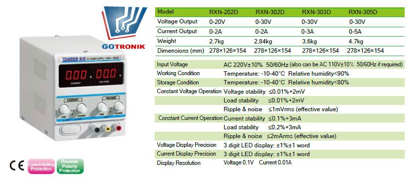 Karta katalogowa RXN-305D