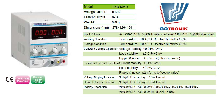 Karta katalogowa RXN-605D