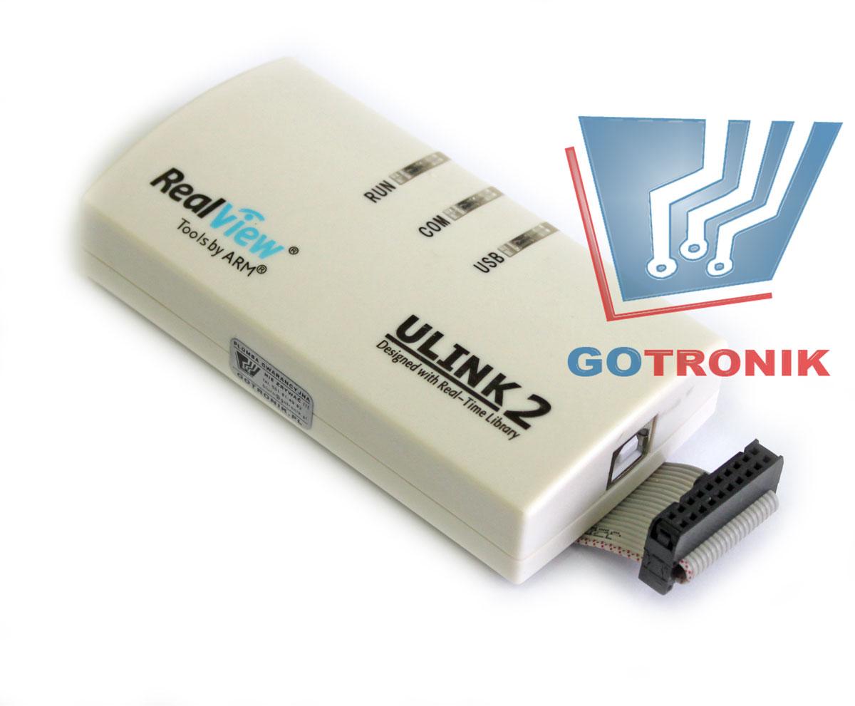 Debugger/programator z interfejsem JTAG oraz SWD dla mikrokontrolerów ARM zgodny z KEIL ULINK 2