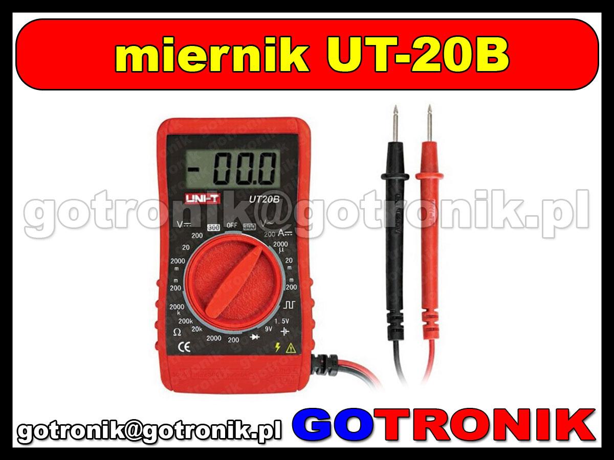 UT20B cyfrowy multimetr uniwersalny UT-20B
