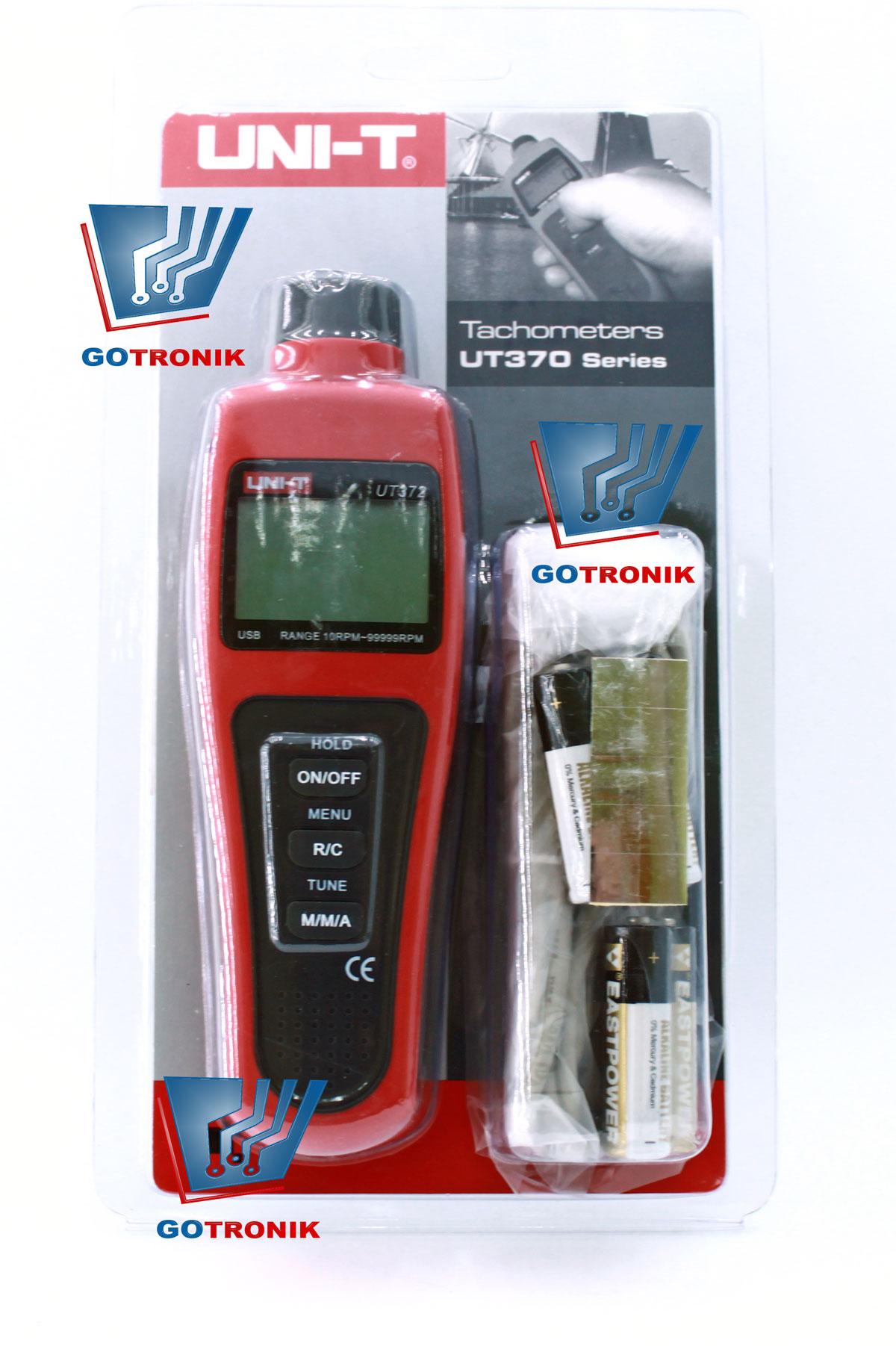 Tachometr UT372 cyfrowy miernik obrotów z portem USB produkcji Uni-T