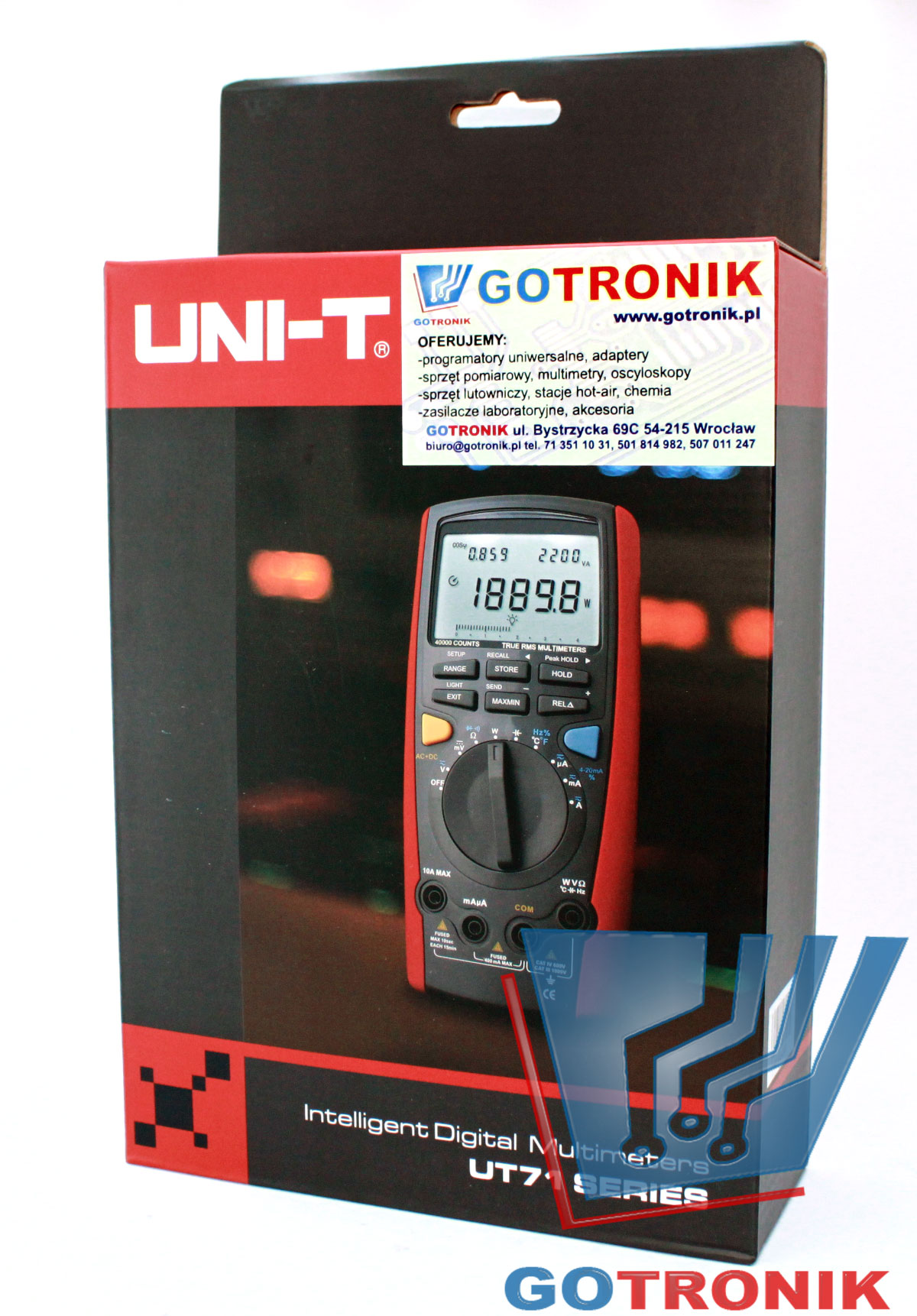 Miernik uniwersalny UT132c multimetr uniwersalny UT71b produkcji Uni-trend