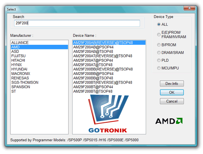 Oprogramowanie SuperPro Xeltek