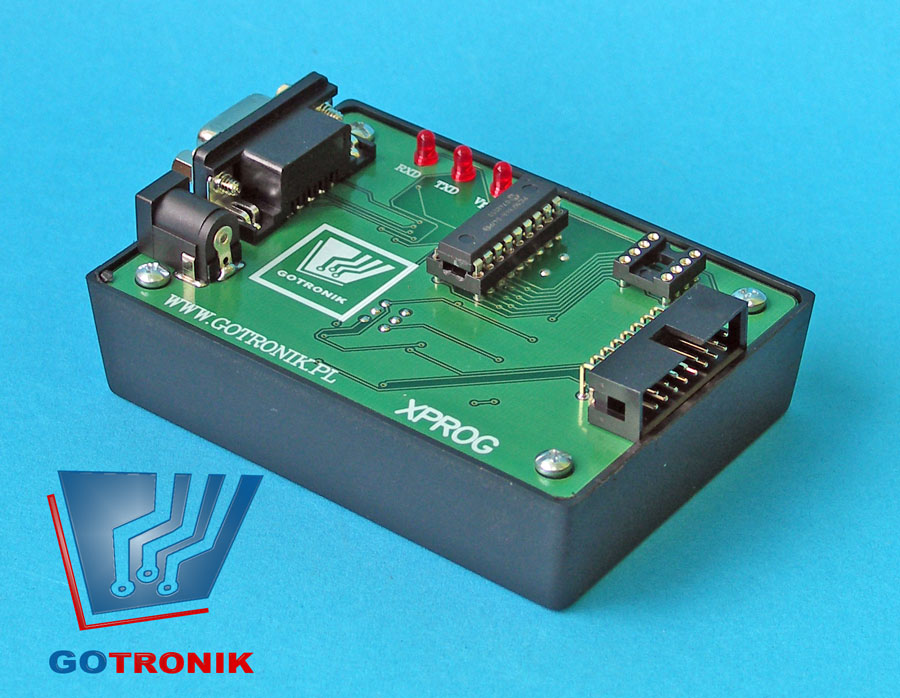 Xprog programator procesorów Motorola 68HC05, 68HC08, 68HC11, oraz pamięci serial eeprom