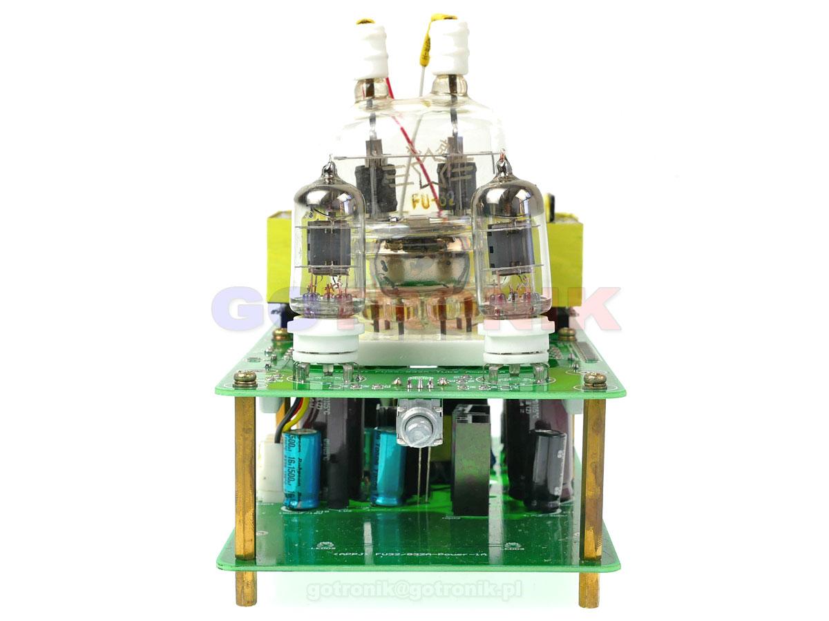 Wzmacniacz mocy na lampach elektronowych FU32/832A