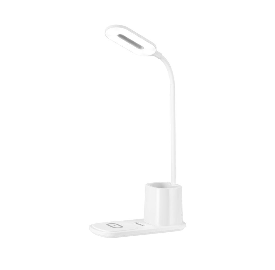 Lampka LED na biurko z ładowarką indukcyjną biała RB-6302-W 5901890066822