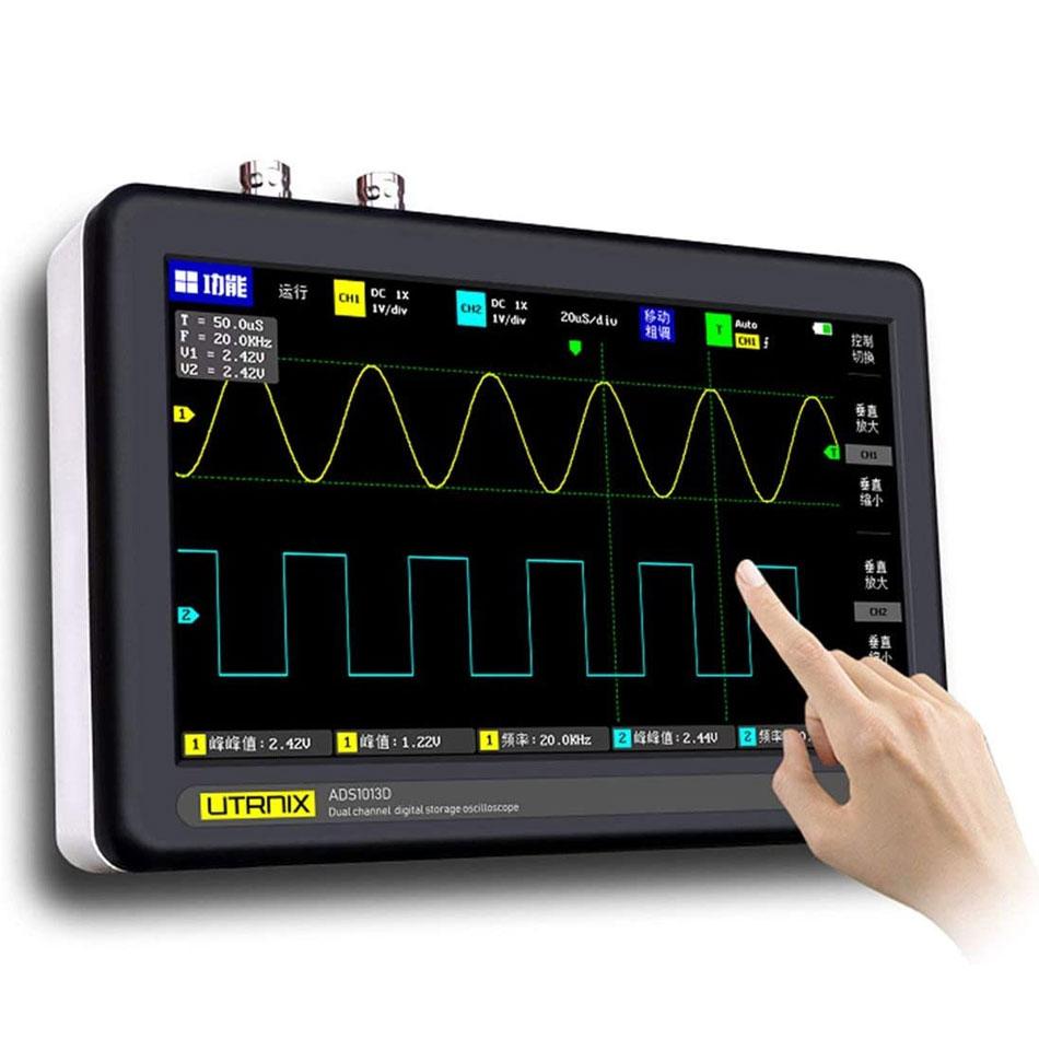 UTRNIX ADS-1013D przenośny oscyloskop cyfrowy 2x100MHz tablet