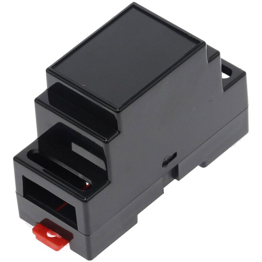 Obudowa dwuczęściowa na szynę DIN 88x37x59mm CZARNA DIN-BOX-2