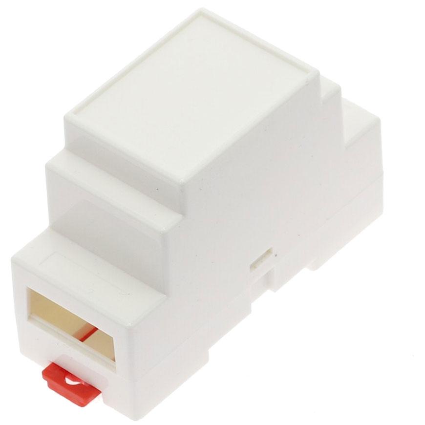Obudowa dwuczęściowa na szynę DIN 88x37x59mm BIAŁA DIN-BOX-6