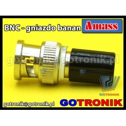 Adapter wtyk BNC - gniazdo banan 4mm