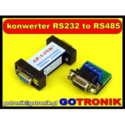 Konwerter RS232 to RS485 z adapterem