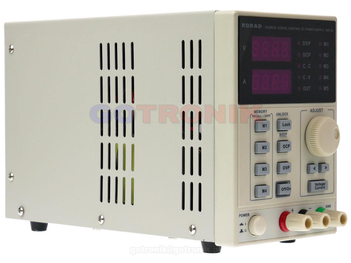 KA3005P zasilacz laboratoryjny 0-30V 0-5A 150W USB RS232 Korad