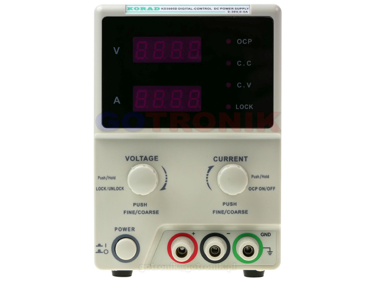 KD3005D zasilacz laboratoryjny 0-30V 0-5A 150W Korad