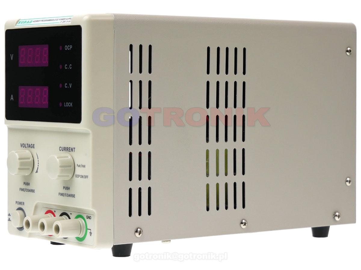 KD3005P zasilacz laboratoryjny 0-30V 0-5A 150W USB RS232 Korad