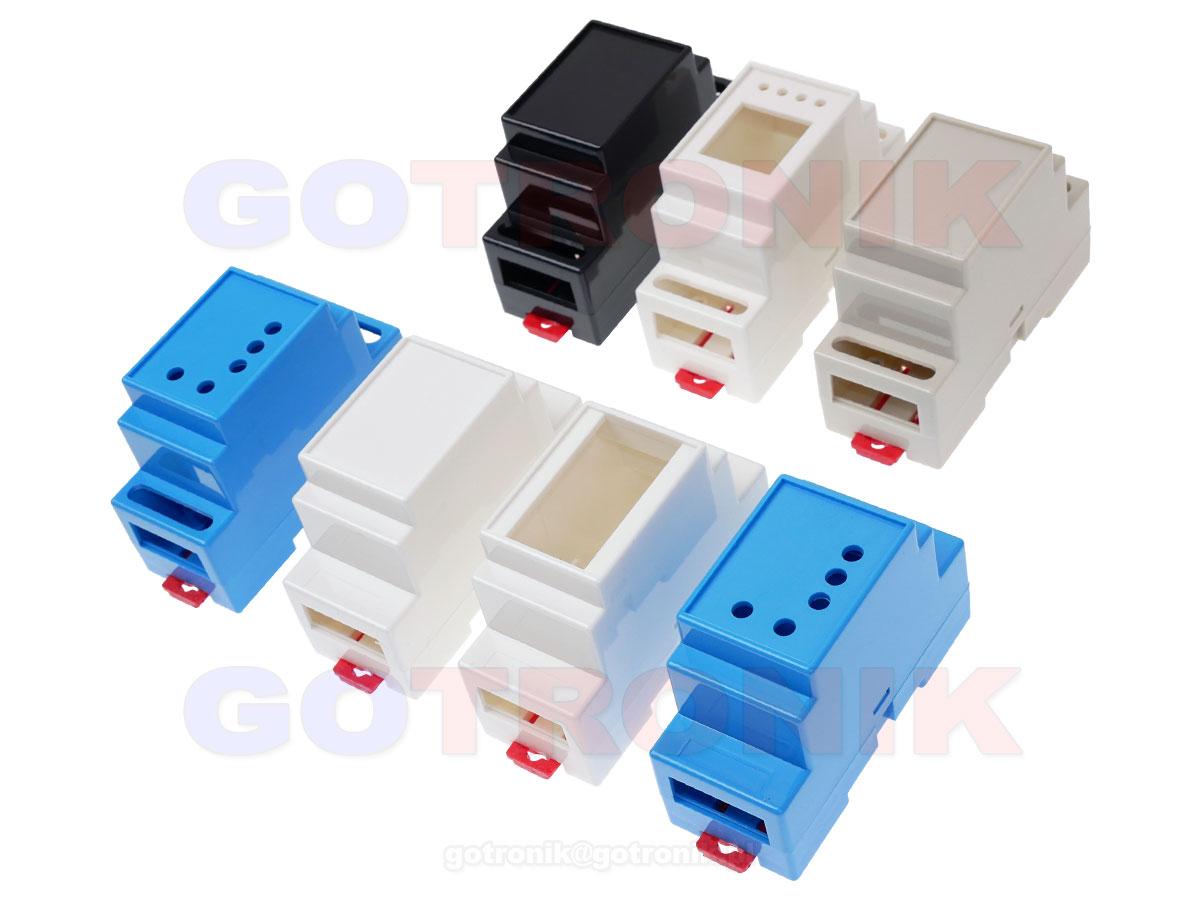 Obudowa dwuczęściowa na szynę DIN 88x37x59mm NIEBIESKA DIN-BOX-3