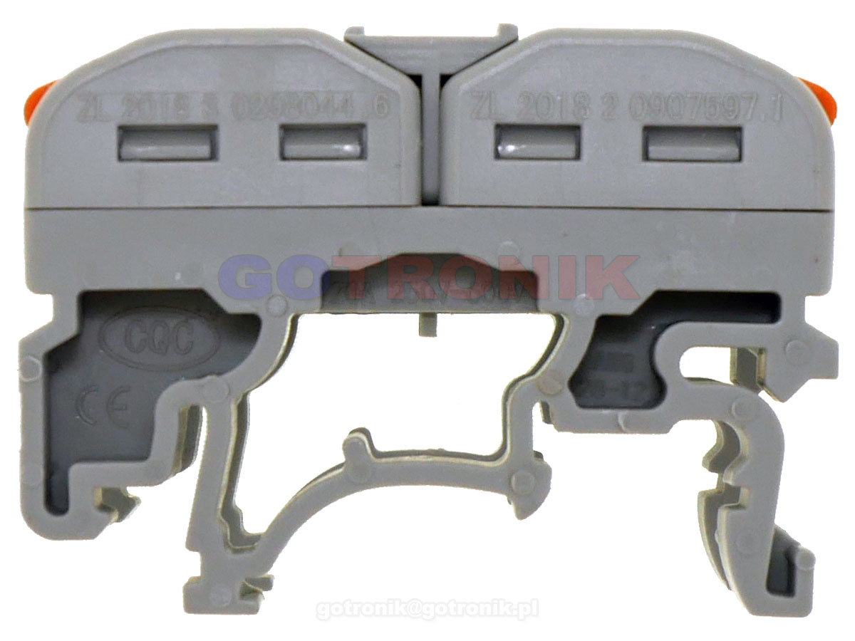 listwa zaciskowa torowa na szynę DIN TS35 złączka szynowa PCT