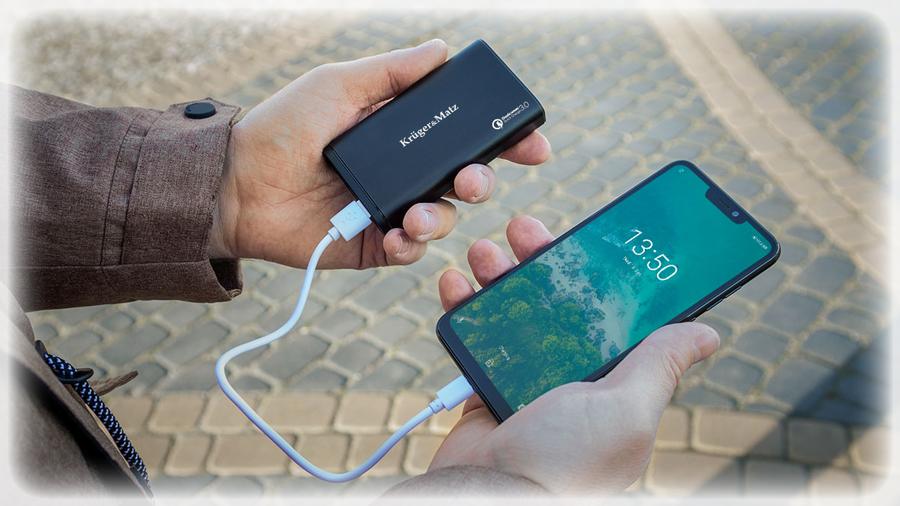 POWER BANK Kruger&Matz 10000 mAh z funkcją Quick Charge 3.0