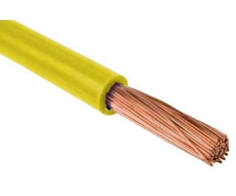 Przewód instalacyjny H07V-K (LgY) 1x1,5 żółty = 1 metr ROL-069