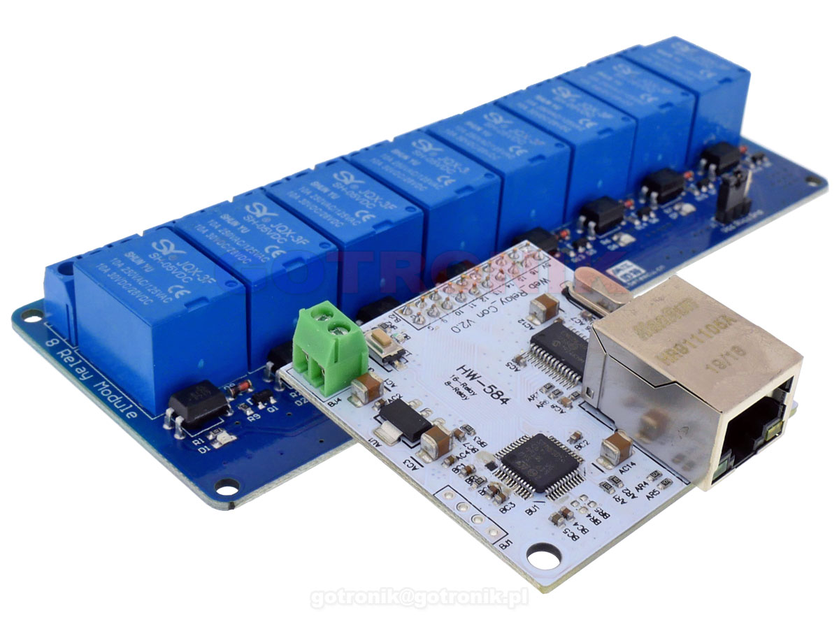 Sterownik LAN do modułów z przekaźnikami 16 wyjść RBS061 RBS-061