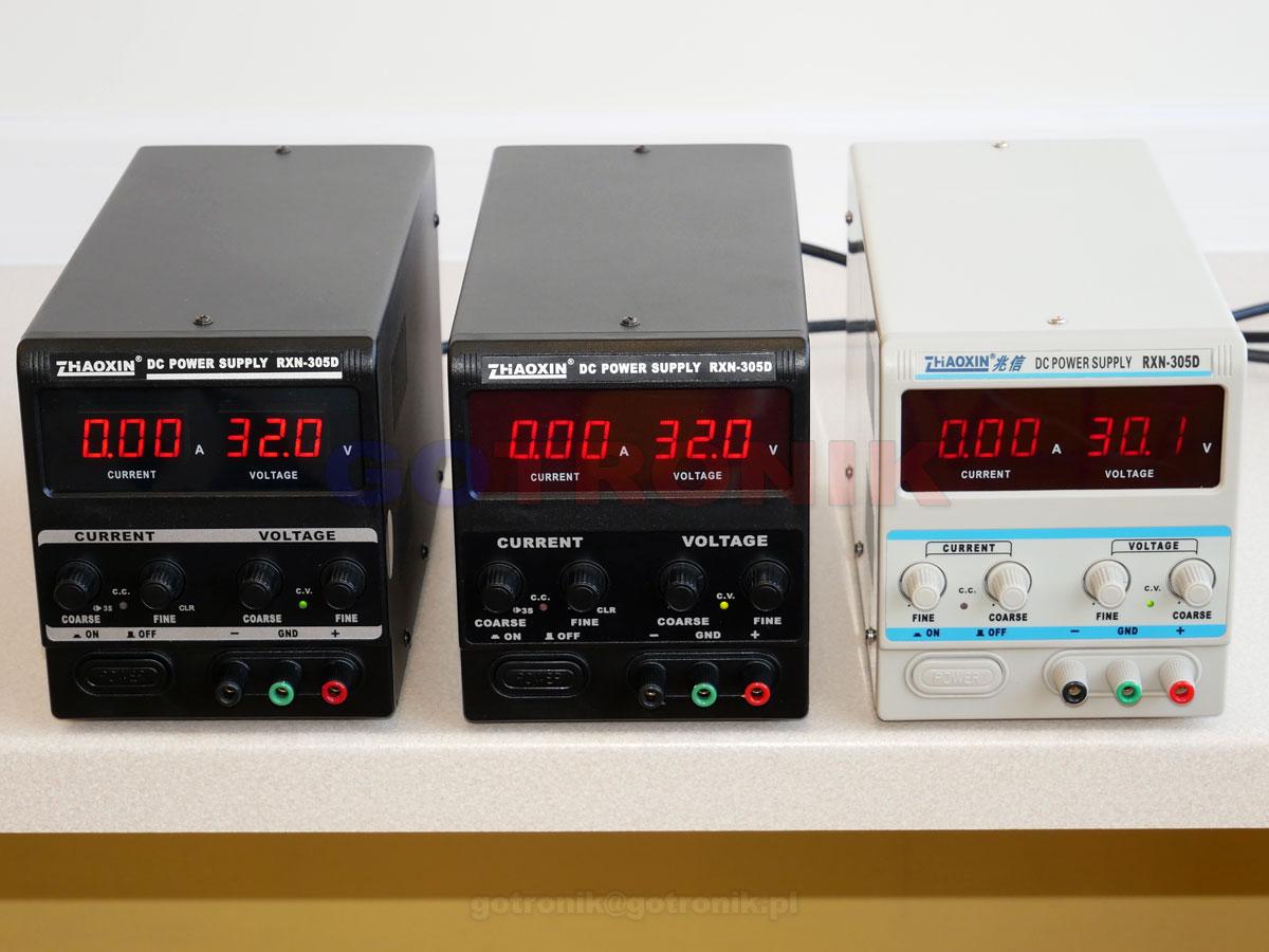RXN-305D BLACK 1 zasilacz laboratoryjny 0-32V 0-5A 160W