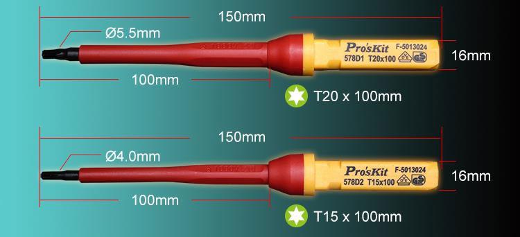 Zestaw wkrętaków izolowanych VDE 12 sztuk SD-V861 dla elektryków