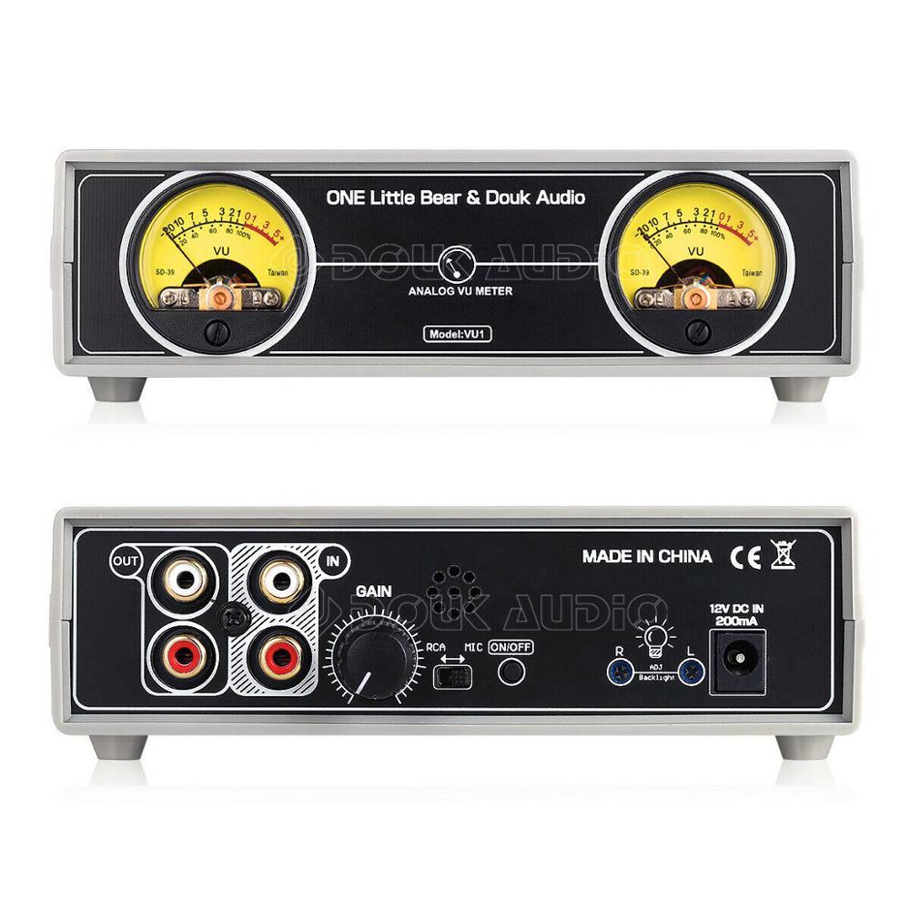 VU1 meter analogowy wskaźnik wysterowania audio stereo