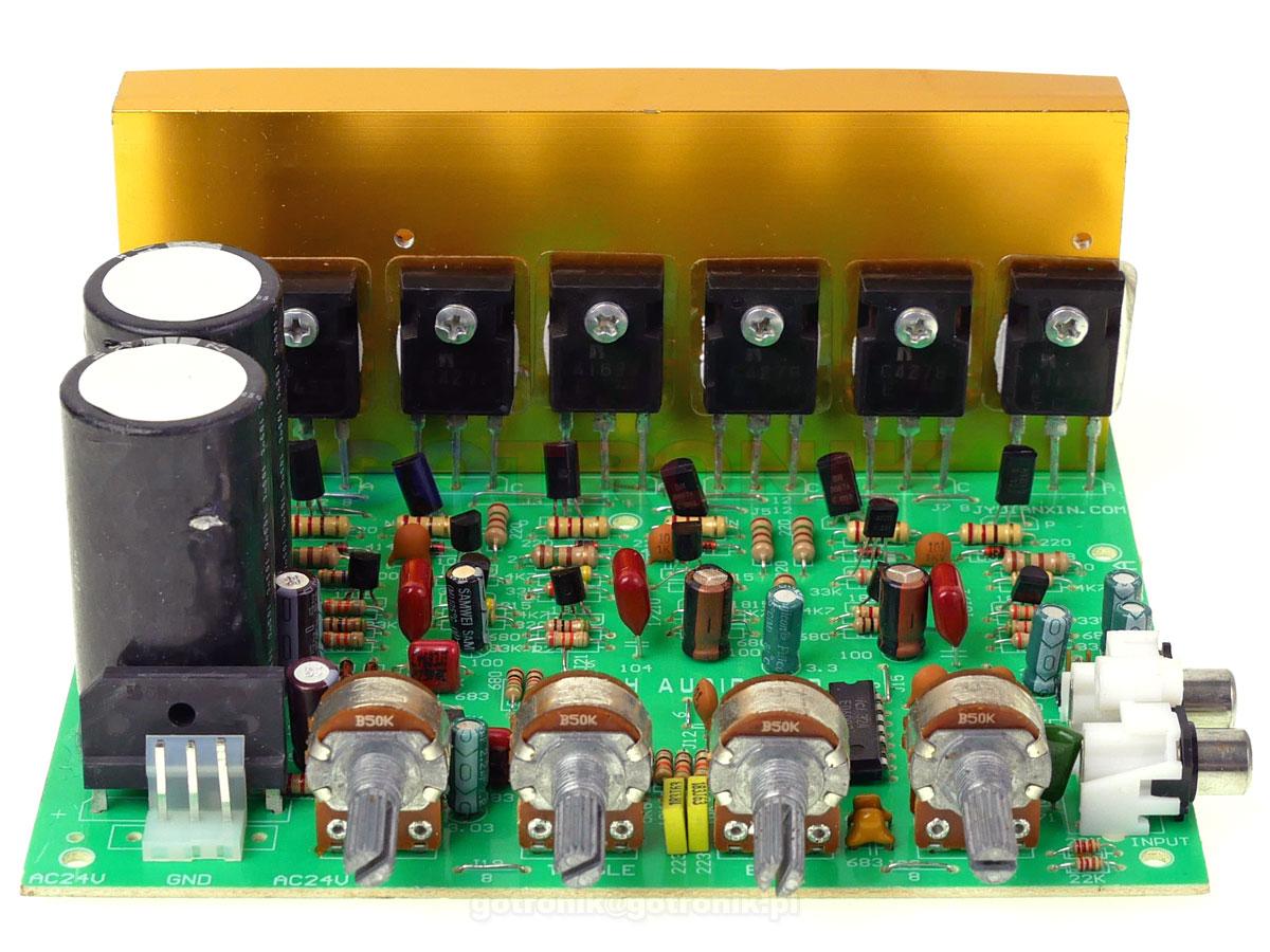 Wzmacniacz mocy 2.1 stereo 2x100W + subwoofer 120W audio