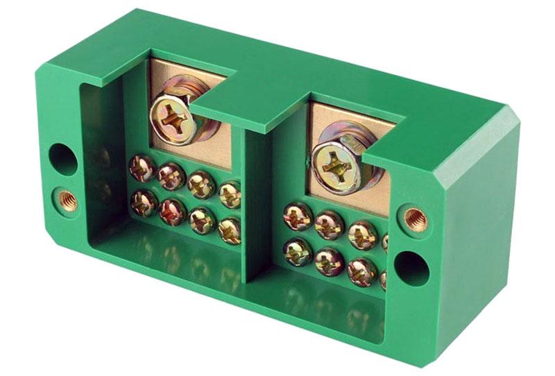 Rozdzielacz 2 fazowy szyna - listwa zaciskowa 2we/8wy FJ6/JHD-1/CN ZLA010 ZLA-010