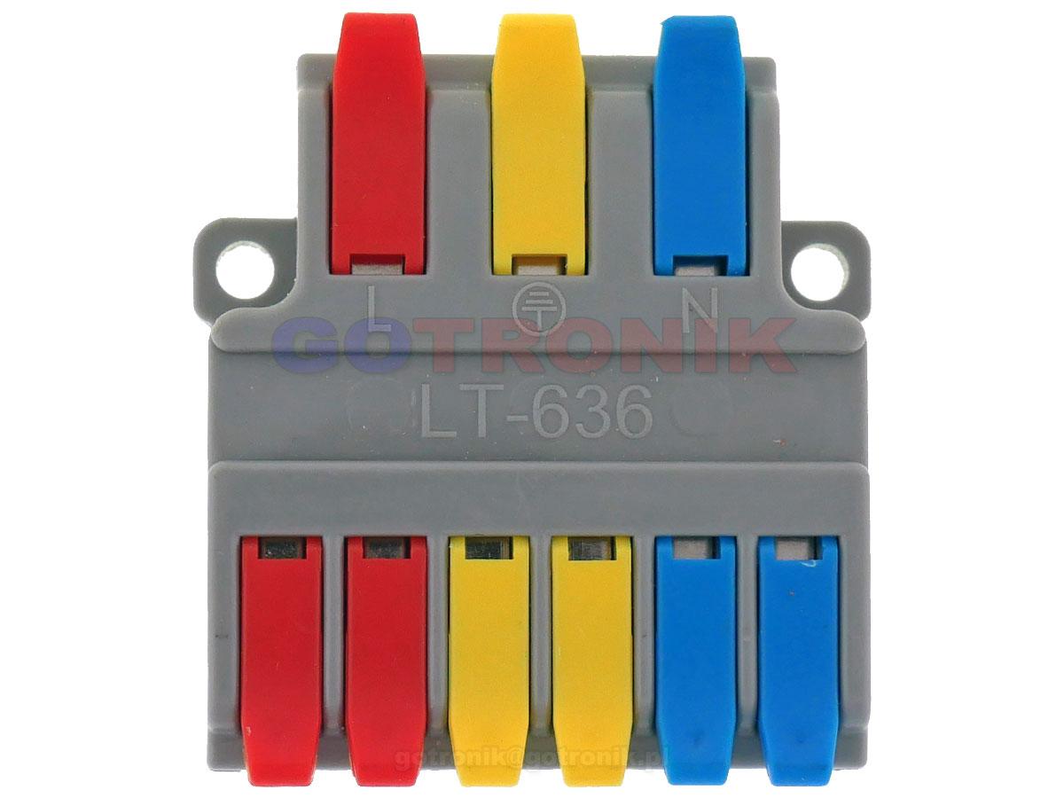LT-636 szybkozłącze kostka elektryczna rozgałęźnik zasilania LT636