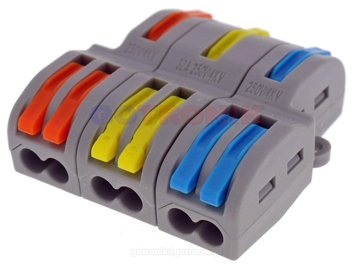 FD-12 szybkozłącze kostka elektryczna rozgałęźnik zasilania FD12 ZLA016 ZLA-016