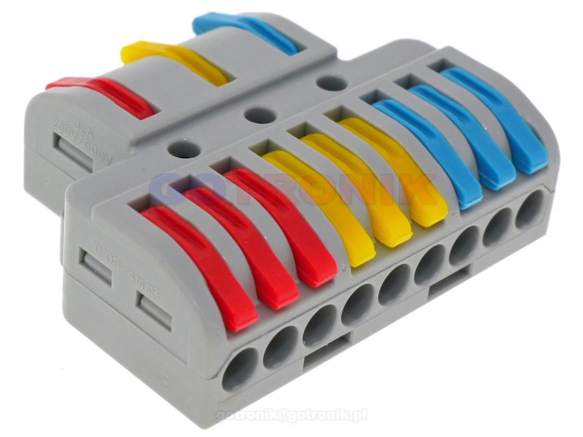 LT-933 szybkozłącze kostka elektryczna rozgałęźnik zasilania LT933 ZLA017 ZLA-017